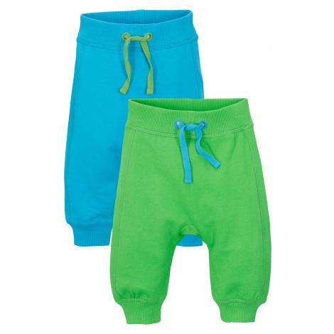 Baby sportovní kalhoty (2 ks v balení) organická bavlna Bonprix
