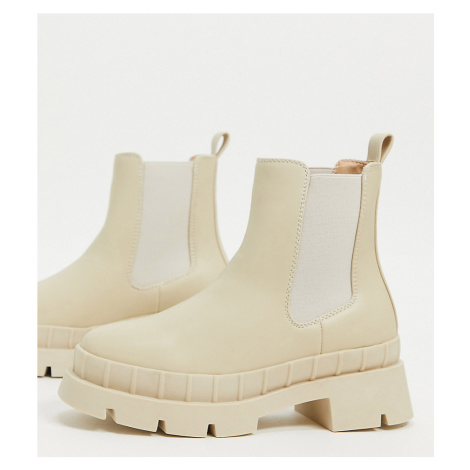 RAID Wide Fit Turner chunky chelsea boot in stone drench-Neutral