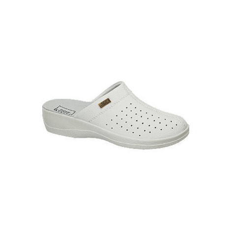 Bílé komfortní pantofle Easy Street