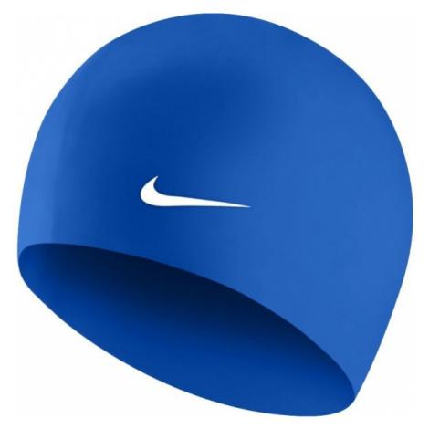 Nike SOLID SILICONE modrá - Plavecká čepice