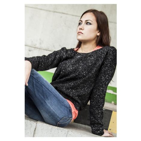 Ladies Knitted Splatter Crewneck Urban Classics