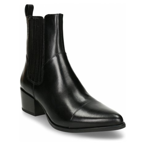 Černá dámská kožená kotníková obuv v Chelsea stylu Vagabond