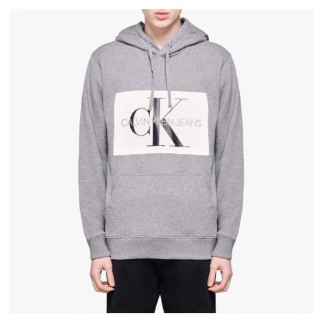 Calvin Klein pánská šedá mikina s kapucí Hoodie