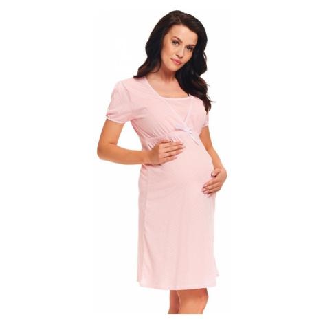 DN Nightwear Kojicí noční košile Sweet Pink hvězdičky