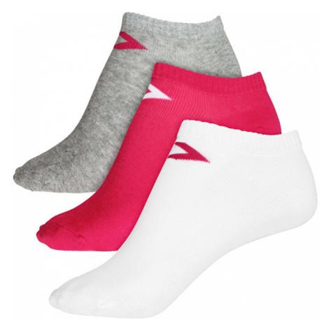 Converse Balení 3ks ponožek 3PP Converse Basic Women low cut, flat knit Pink/White/Lt Grey
