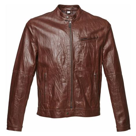 Dámská kožená bunda se stylovým prošitím Baťa