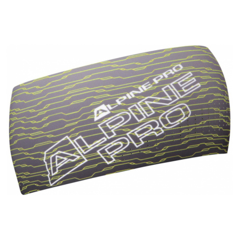 ALPINE PRO WAIA Unisex sportovní čelenka USFS058530 reflexní žlutá UNI