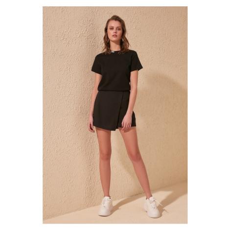 Trendyol Black Track Detail shorts & bermuda