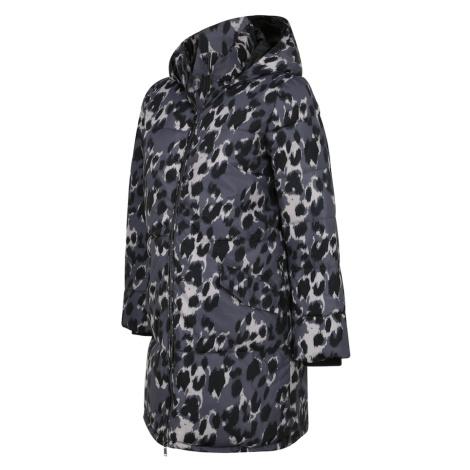 MAMALICIOUS Přechodný kabát černá / bílá / kouřově modrá Mama Licious