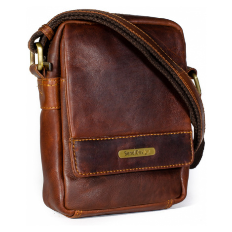 Kožená taška přes rameno SendiDesign SD-100 hnědá