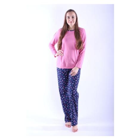 Dámské pyžamo Erika 1 růžové s peříčky Nelly