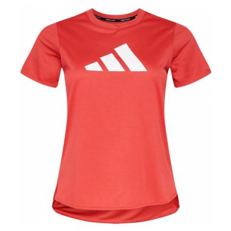 ADIDAS PERFORMANCE Funkční tričko 'Badge of Sport' světle červená / bílá