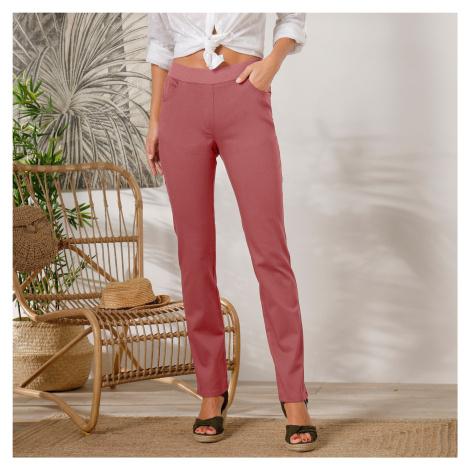 Blancheporte Rovné kalhoty s pružným pasem terakota