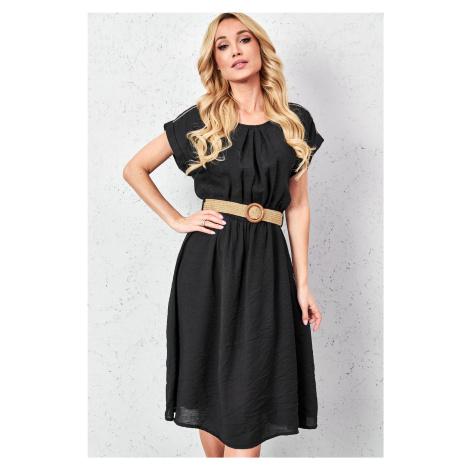 Dámské šaty 29540 černé