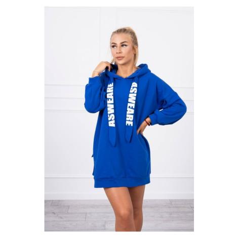 Dress with a pocket on the back mauve-blue Kesi