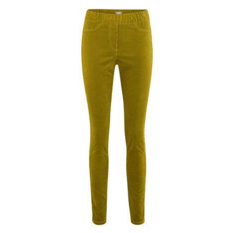 Dámské biobavlněné manšestrové kalhoty