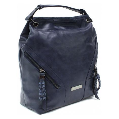 Tmavě modrá velká dámská kabelka do ruky a přes rameno Creissant Lucky Queen (PL)
