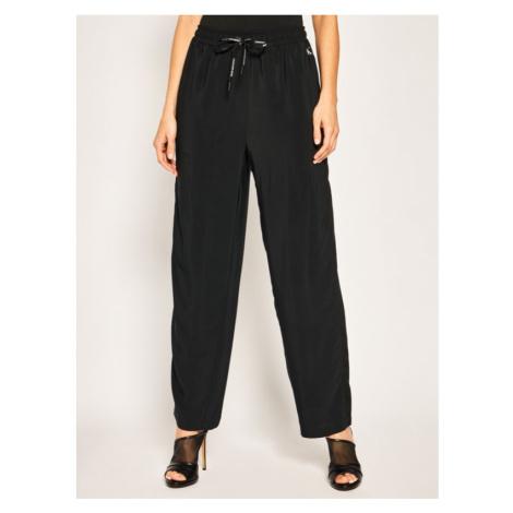 Calvin Klein Calvin Klein dámské černé kalhoty BRANDED DRAW CORDS DRAPEY PANT