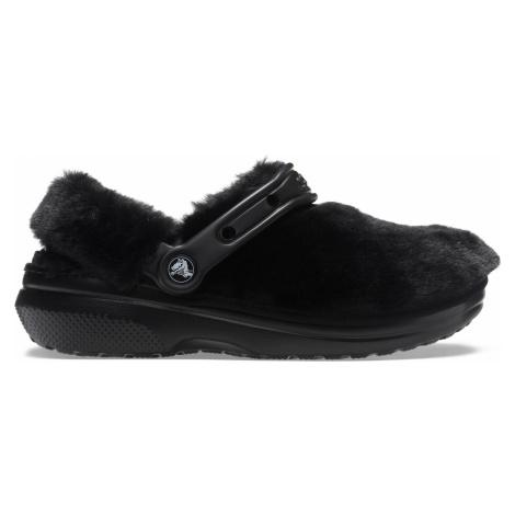 Crocs Classic Fur Sure Black