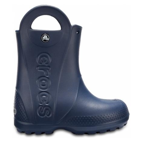 Dětské holinky Crocs HANDLE It Rain Boot modrá