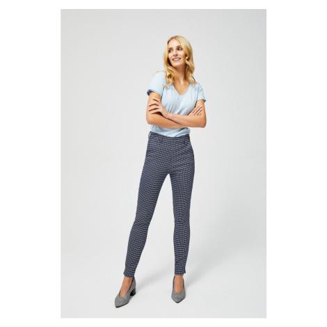 Printed trousers - navy blue Moodo
