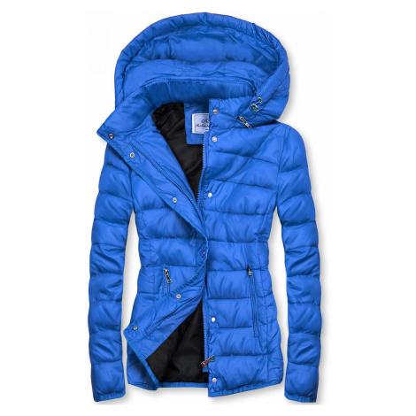 Kobaltově modrá prošívaná bunda na přechodné období Butikovo