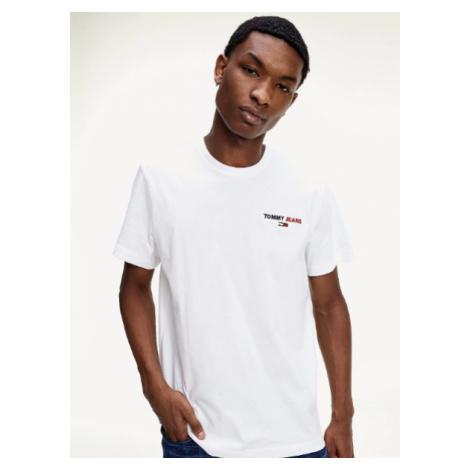 Tommy Hilfiger TOMMY JEANS pánské bílé tričko TJM CHEST CORP TEE