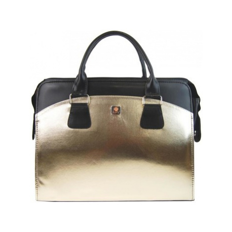 Punce LC-01 Zlatá dámská kabelka pro notebook do 15.6 palce Zlatá