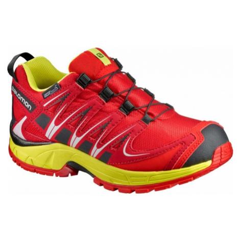 Salomon XA PRO 3D CSWP K červená - Dětská běžecká obuv