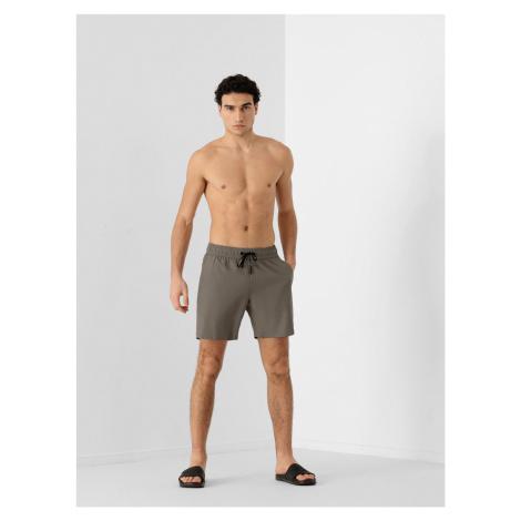 4F - Pánské plážové šortky - hnědý