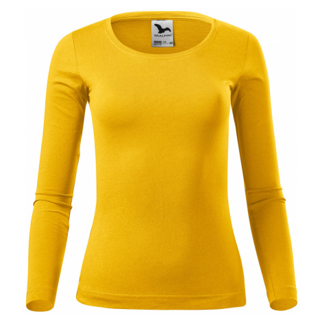Malfini Fit-t LS Dámské triko dlouhý rukáv 16904 žlutá