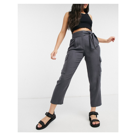 Oasis soft utility trouser in dark grey