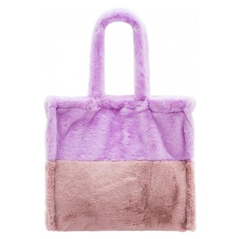 Dámská velká oboustranná kabelka s chlupem fialovo - růžová