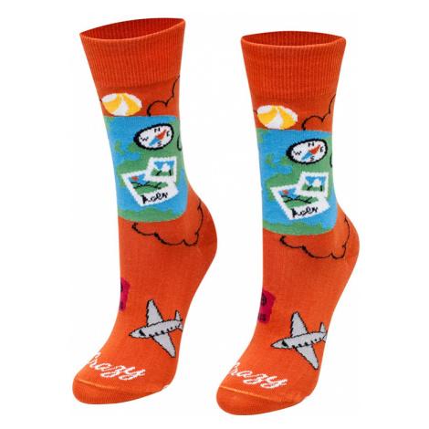 Oranžové ponožky Cestovatel