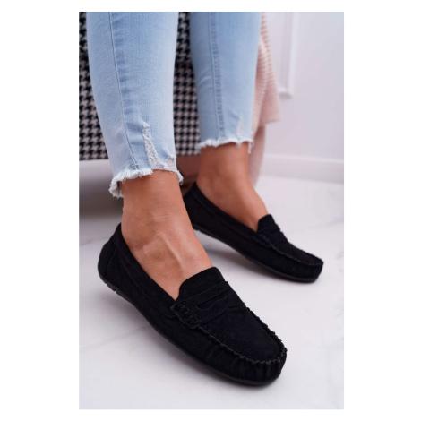 Women's Loafers Suede Black Bolero Kesi