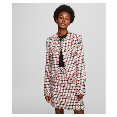 Sako Karl Lagerfeld Houndstooth Boucle Jacket - Různobarevná