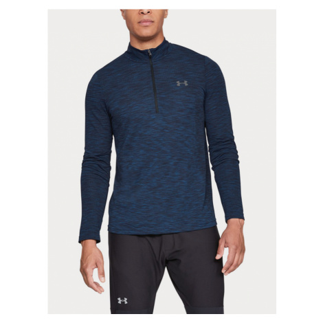 Tričko Under Armour Vanish Seamless 1/2 Zip Modrá