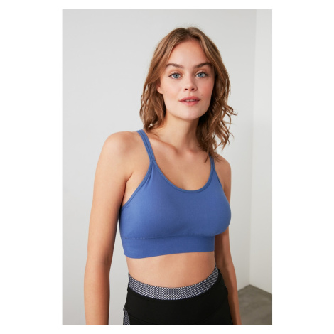 Trendyol Blue Seamless Supported Sports Bra