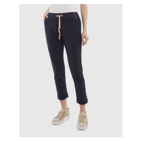 Tepláky La Martina Woman Cotton Fleece Pant - Modrá