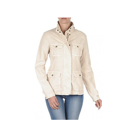 Gant COTTON LINEN 4PKT JACKET Béžová