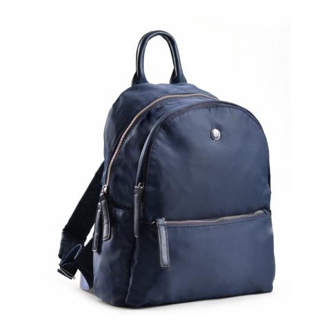 Bright Elegantní dámský batoh větší A5 vybavený tmavě modrý, 26 x 12 x 31 (BR18-W117-1618-41TX)