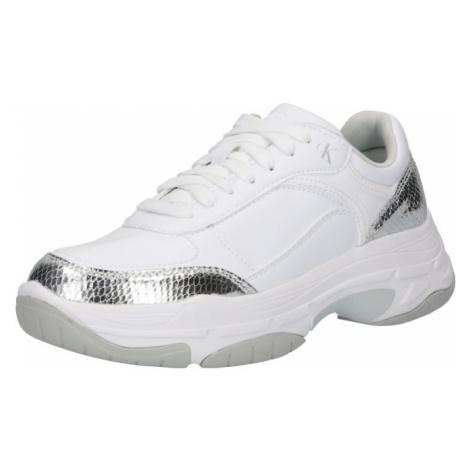 Calvin Klein Jeans Tenisky stříbrná / bílá