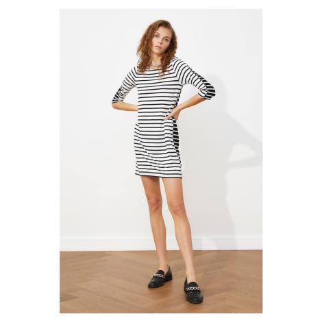 Trendyol Black Striped Knitted Dress