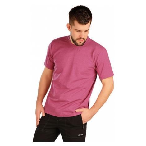 Pánské triko s krátkým rukávem Litex 5A402 | vínové melé
