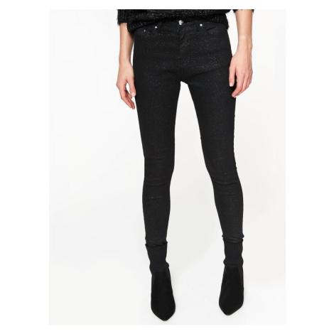 Top Secret Kalhoty dámské černé úzké
