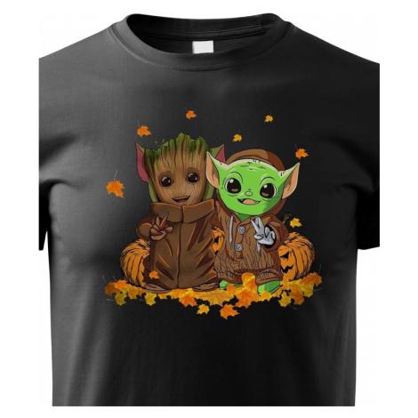 Dětské tričko Mistr Yoda a Groot - ideální pro každého fanouška