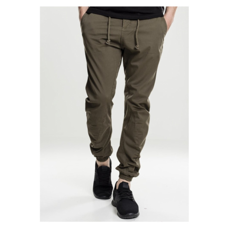 Stretch Jogging Pants - olive Urban Classics