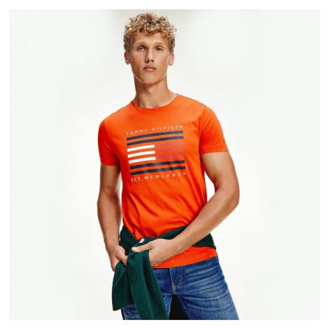 Tommy Hilfiger pánské oranžové tričko Corp