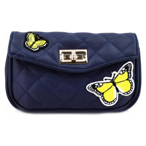 Dívčí prošívaná kabelka a ledvinka v jednom - tmavě modrá Arteddy