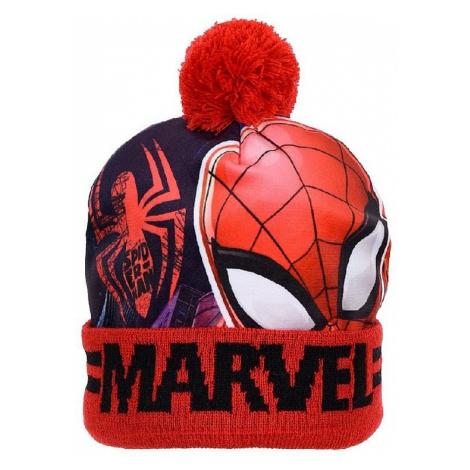 červená zimní čepice spider-man